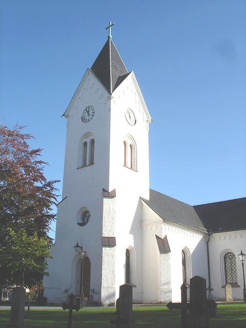 Cimetière et église / Cemetery & church - Ängelholm.  Suède / Sweden.  23 octobre 2008