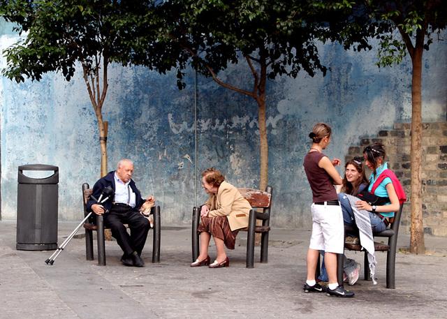 madrid : scène de rue