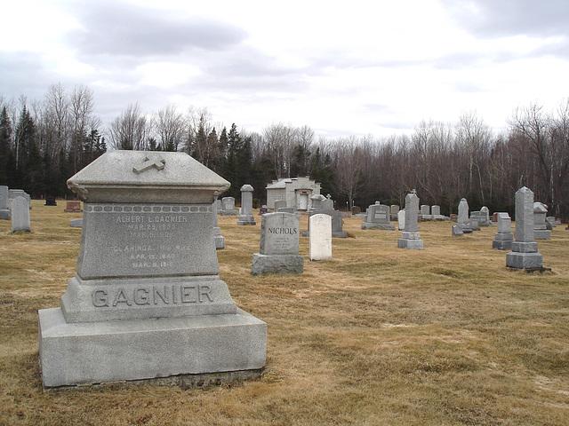 Immaculate heart of Mary cemetery - Churubusco. NY. USA.  March  29th 2009  Gagnier et Nichols
