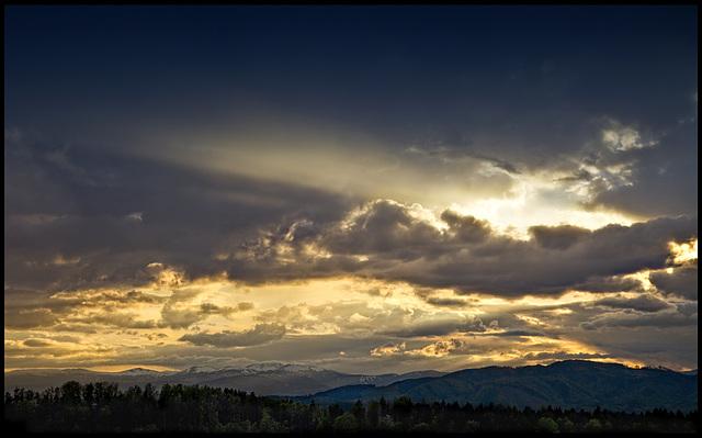 last rays.......