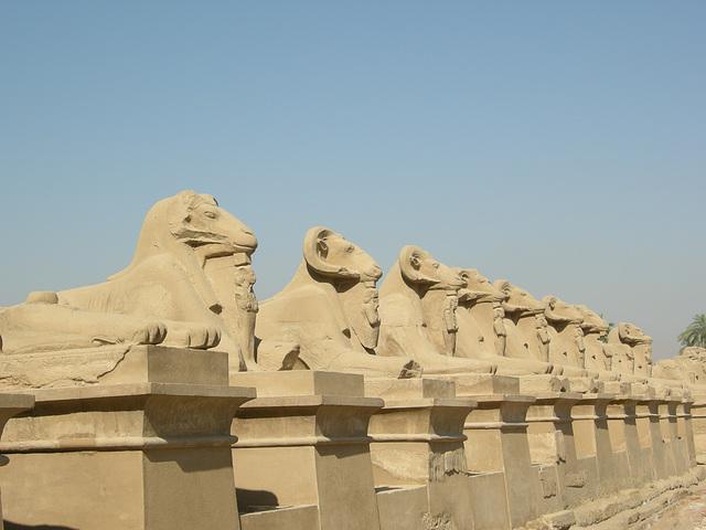 Sphingenallee in Karnak