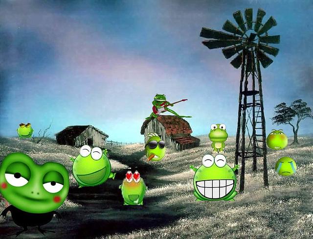 tout un monde de grenouilles
