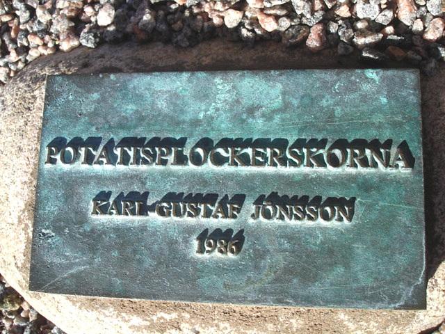 Karl Gustaf Jonsson sculpture 1986 /  Laholm  /  Suède - Sweden.  25 octobre 2008