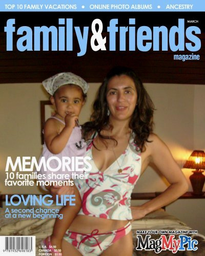 """Rafaela + mother, forged cover of magazine """"family&friends"""""""