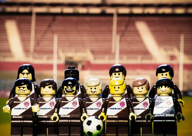 FC St. Pauli - Lego in front of Northtribune of Millerntor-Stadium