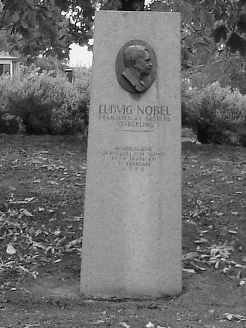 En mémoire de Ludvig Nobel  / In memory of Ludvig Nobel -  Båstad  /  Suède - Sweden.  21-10-2008 -  N & B