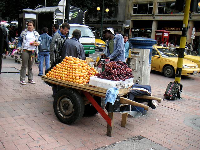 Marchand ambulant, Bogota