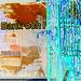 Blue bank window reflection /  Réflexion de la banque en bleu -  Ängelholm / Suède.  23 octobre 2008- Effet de négatif + couleurs ravivées