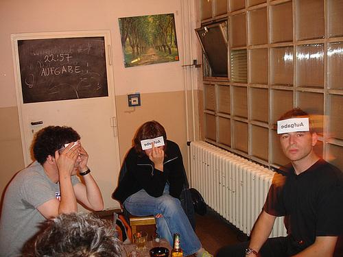 Das Wort Aufgabe durch Atelierfrankfurt hindurchdenken. September 2006