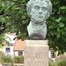La tête de Carl !  Carl Adolph Agardh head statue- Båstad.  Suède - Sweden.   21-10-2008
