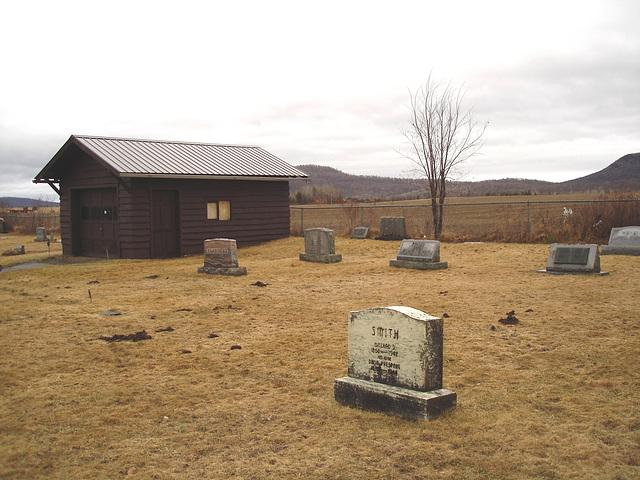 Mountain view cemetery. Saranac lake area.  NY. USA . March 29th 2009-  Smith in memoriam.