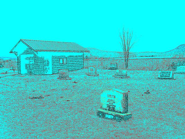Mountain view cemetery. Saranac lake area.  NY. USA . March 29th 2009-  Smith in memoriam /  Contours de couleurs
