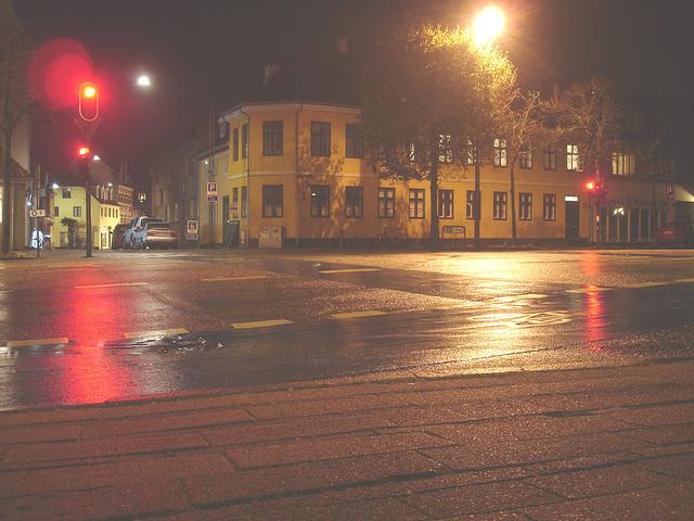 La vie nocture à Helsingor by the night  /  Danemark. - Octobre 2008
