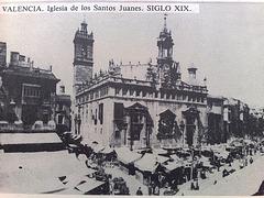 Valencia: Iglesia de los Santos Juanes en el S. XIX