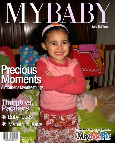 """Rafaela, forged cover of magazine """"MYBABY"""""""