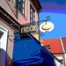 Enseigne publicitaire / Frisör sign -  Laholm / Sweden - Suède.  25 octobre 2008 - Postérisation