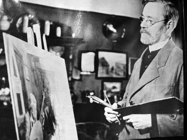 Bernhard Winter bei der Arbeit
