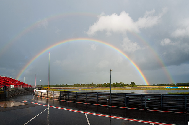 Semicircular double rainbow
