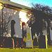 Laholms kirka ( Church & cemetery) - Église et cimetière /   Laholm -  Sweden / Suède.  25 octobre 2008  -  Postérisation avec couleurs ravivées