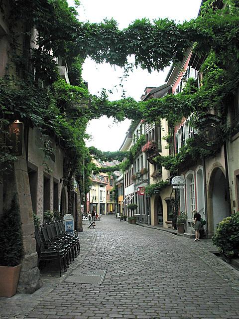 Gasse in Freiburg