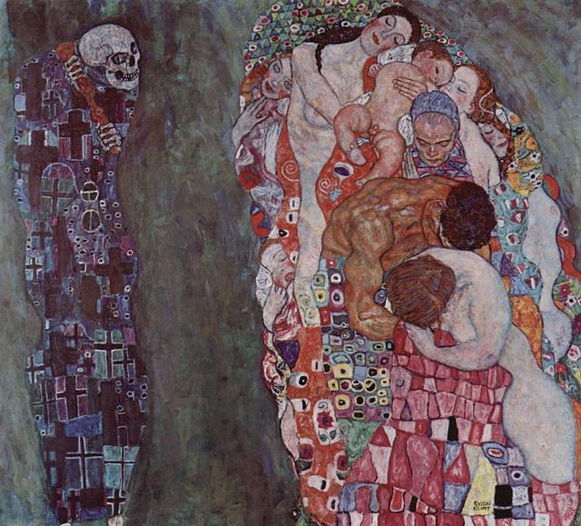 Les vivants et la mort, œuvre de Gustav Klimt