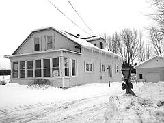 Villa Ste-Marguerite de St-Benoit. Qc. CANADA. 7 février 2009- B & W