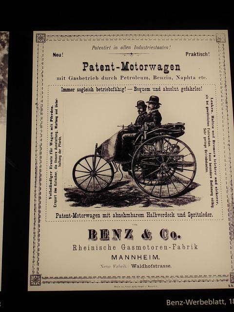Benz Motorwagen Werbeblatt