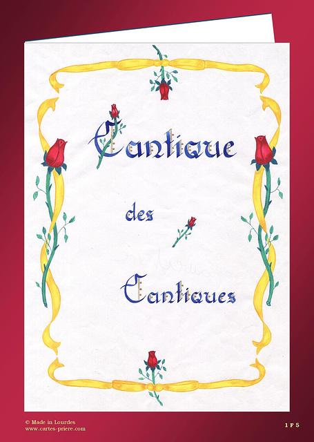 Cantique des cantiques, calligraphie de Sœur Marie