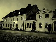 L'acienne hôtel  Båstad / Former Hotel Båstad -  Suède /  Sweden.   23 octobre 2008 - Vintage night shot / Photo de nuit à l'ancienne