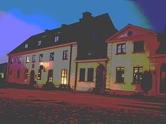 - L'acienne hôtel  Båstad / Former Hotel Båstad -  Suède /  Sweden.   23 octobre 2008-  Postérisation photofiltrée