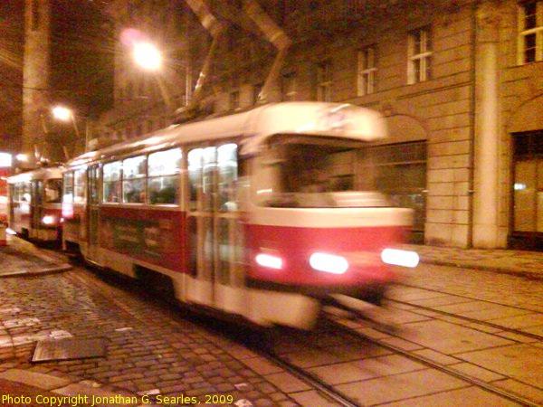 Tatra T3 Blur on Jindrisska at Night, Prague, CZ, 2009