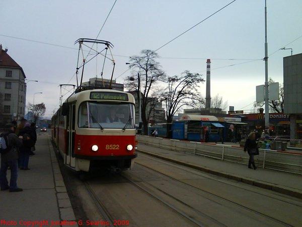 DPP #8522 at Nadrazi Holesovice, Prague, CZ, 2009