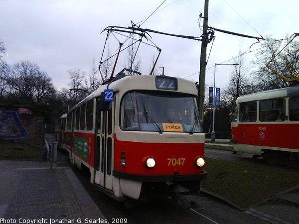 DPP #7047 and #7065 at Kralovsky Letohradek, Prague, CZ, 2009