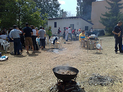 Mutilva Alta: preparando el calderete.