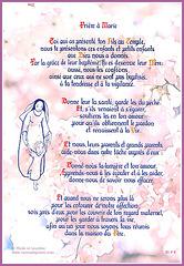 Prière à Marie, calligraphie de Sœur Marie