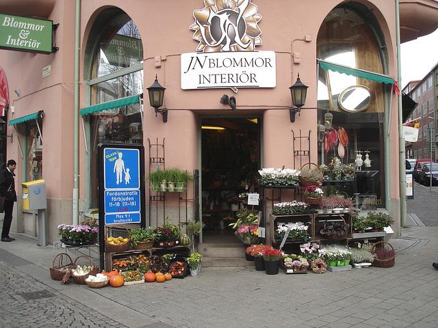Carrefour floral à la suédoise / JN Blommor interiör -  Helsingborg  /  Suède - Sweden.  22 octobre 2008