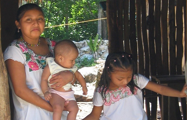Famille Maya du Yucatán, Mexique
