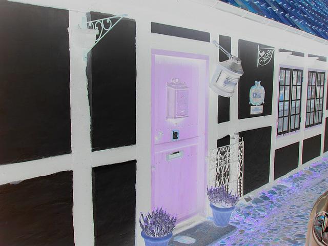 Maison Kisek -  Kisek house -  Båstad  / Suède - Sweden.  21-10-2008 -  Négatif aux couleurs ravivées