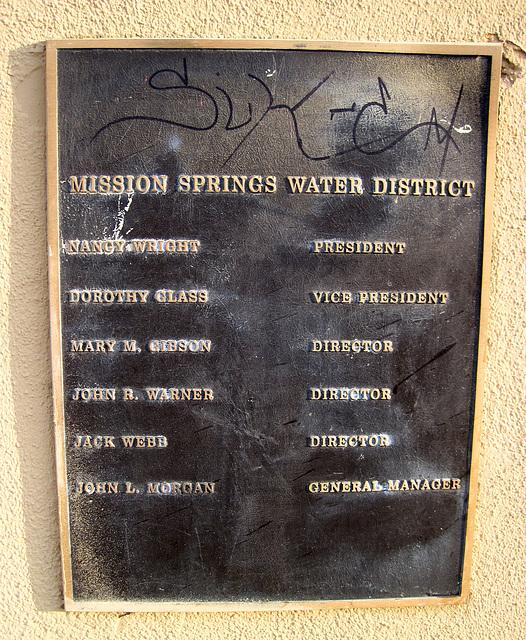 Mission Springs Park Plaque (0011)