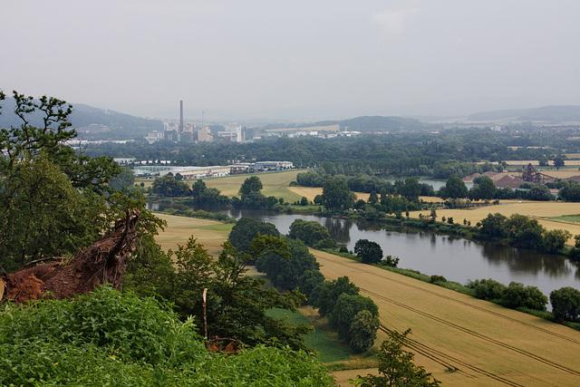 die Weser und Hameln vom Ohrberg