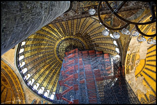 Hagia Sofia restoration....