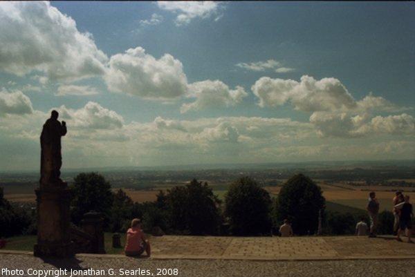 View from sv. Kopecek, Picture 2, Samotisky, Olomouc, Olomoucky Kraj, Moravia (CZ), 2008