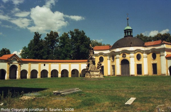 Bazilika Courtyard, Samotisky, Olomouc, Olomoucky Kraj, Moravia (CZ), 2008