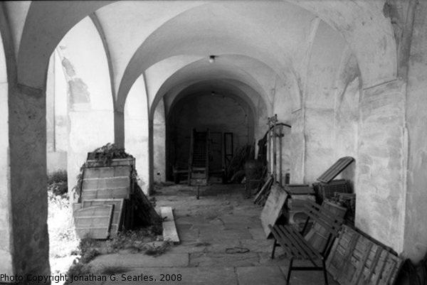 Tools and Supplies at the Bazilika, B&W version, Samotisky, Olomouc, Olomoucky Kraj, Moravia (CZ), 2008