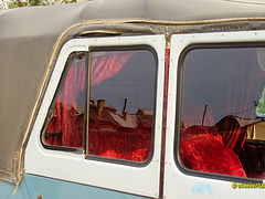 Polizeifahrzeug auf Olchon: Innenausstattung in Nahaufnahme
