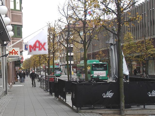 Max tramway scenery  /   Max et le tramway -  Helsingborg - Suède / Sweden.  22 octobre 2008