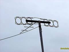 Antenne nach Pfadfinderart