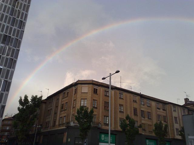 Arco iris en Pamplona.