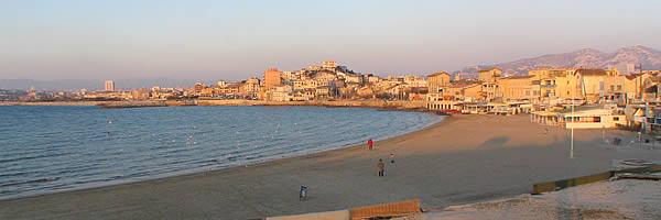 La plage du Prado à Marseille