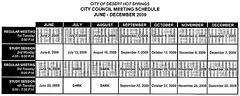 City Council Schedule